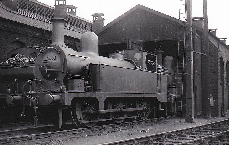 NSR - 1589 - Longbottom NSR Class D 2F 0-6-0T - built 10/1895 by Stoke Works as NSR No.144 - 1923 to LMS No.1589 - 09/35 withdrawn.