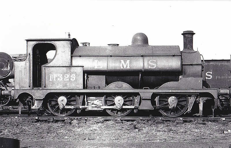 LYR - 11325 - LYR - 11325 - Aspinall LYR Class 23 2F 0-6-0ST - built 08/1877 by Horwich Works as LYR Class 528 0-6-0 No.559 - 1891 to 1900 rebuilt by Sharp Stewart & Co. as 0-6-0ST - 1923 to LMS No.11325 - BR No.51325 not applied - 03/49 withdrawn from Wigan MPD - seen here at Horwich Works, 03/49.
