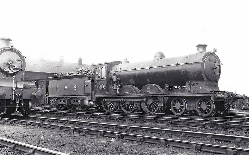 CR - 17908 - McIntosh CR Class 179 4-6-0 - built 1914 by St Rollox Works as CR No.182 - 1923 to LMS No.17908 - 1946 withdrawn.
