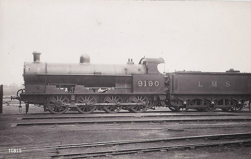 LNWR - 9190 - Bowen-Cooke LNWR Class G1 7F 0-8-0 - built 11/12 by Crewe Works as LNWR No.2289 - 11/28 to LMS No.9190, BR No.49190 not applied - 02/50 withdrawn from 10C Patricroft.
