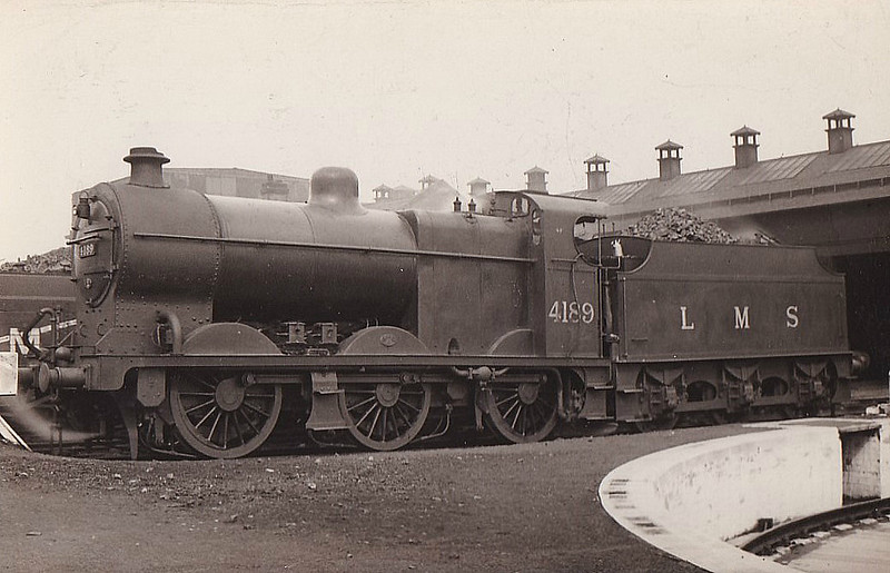 LMS - 4189 - Fowler LMS Class 4F 0-6-0 - built 04/25 by St Rollox Works - 12/49 to BR No.44189 - 12/62 withdrawn from 67B Hurlford..