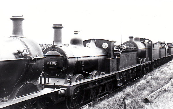 MR - 3168 - Johnson Class 1698 2F 0-6-0 - built 1887 by Derby Works as MR No.1776 - 1907 to MR No.3168 - 1923 to LMS - 1948 to BR as No.58243 (not applied) - 1946 withdrawn - 06/49 withdrawn from 3D Aston.