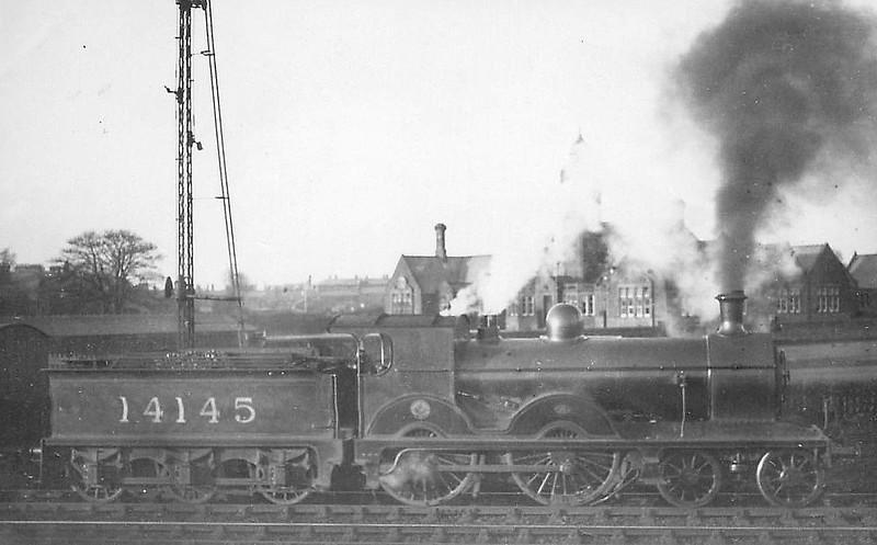 GSWR - 14145 - Smellie GSWR Class 153 4-4-0 - built 04/1887 by Kilmarnock Works as GSWR No.56 - 1919 to GSWR No.452 - 1923 to LMS No.14145 - 09/34 withdrawn.
