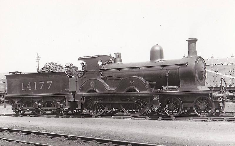GSWR - 14177 - Manson GSWR Class 8 4-4-0 - built 04/1895 by Kilmarnock Works  as GSWR No.6 - 1919 to GSWR No.398, 1923 to LMS No.14177 - 1930 withdrawn - seen here at Ayr, 05/30.