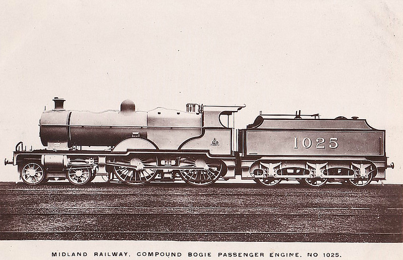 MR - 1025 - Johnson MR Class 4P Compound 4-4-0 - built 05/06 by Derby Works - 01/49 to BR No.41025 - 01/53 withdrawn from 22B Gloucester Barnwood