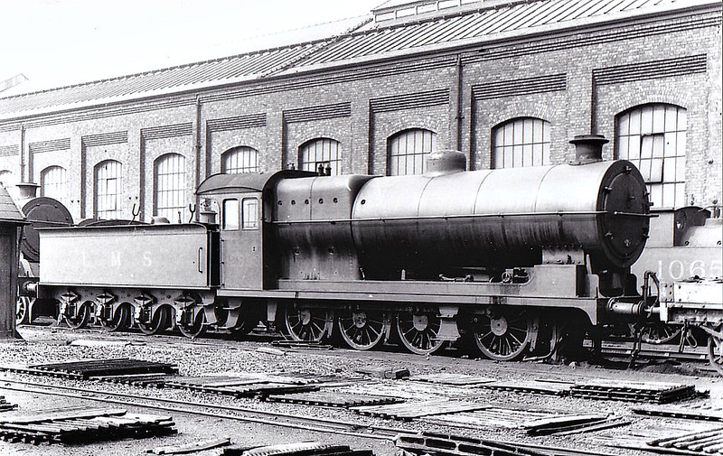 LYR - 12988 - Aspinall LYR Class 30 6F 0-8-0 - built 07/01 by Horwich Works as LYR No.384 - 1923 to LMS Mo.12988 - 04/36 withdrawn - seen here at Horwich Works, 09/35.