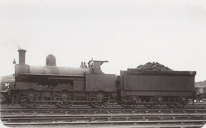 LNWR - 8372 - Webb LNWR Class 2F Cauliflower 0-6-0 - built 09/1895 by Crewe Works as LNWR No.672 - 05/27 to LMS No.8372, 04/44 to LMS No.28372 - BR No.58370 not applied - 07/48 withdrawn.