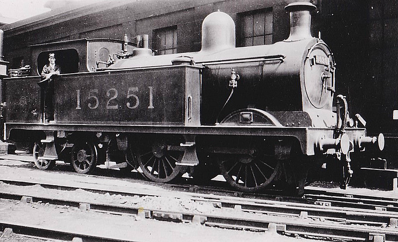 GSWR - 15251 - Manson GSWR Class 326 0-4-4T - built 10/1893 by Neilson & Co. as GSWR No.332 - 1919 to GSWR No.526, 1923 to LMS No.15251 - 1930 withdrawn.
