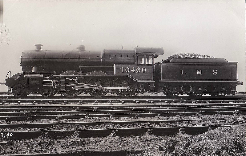 LYR - 10460 - Hughes LYR /LMS 'Dreadnought' Class 5P 4-6-0 - built 08/24 by Horwich Works - 12/47 withdrawn from Blackpool Central (South) MPD.