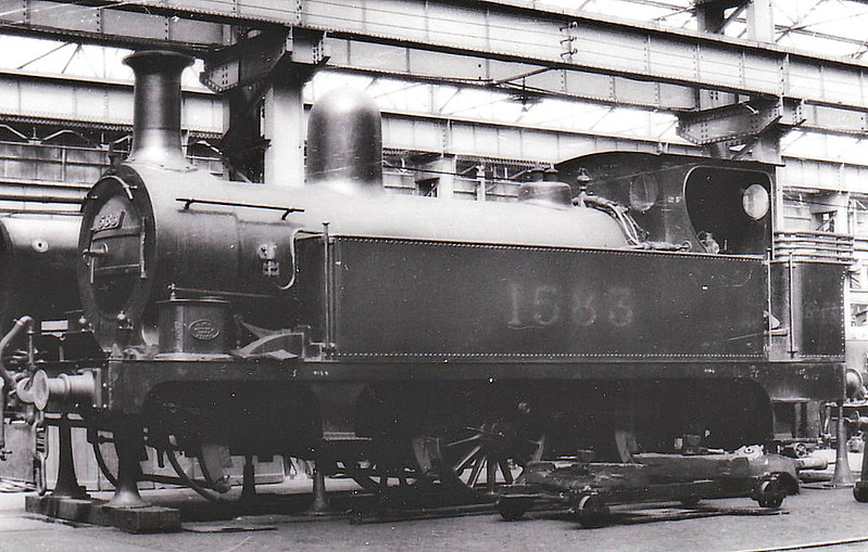 NSR - 1583 - Longbottom NSR Class D 2F 0-6-0T - built 06/1893 by Stoke Works as NSR No.138 - 1923 to LMS No.1583 - 08/36 withdrawn - seen here in Crewe Works.