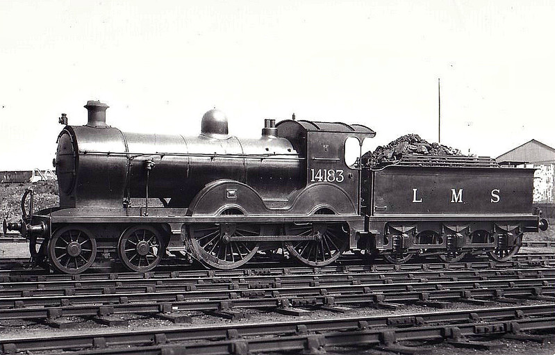 GSWR - 14183 - Manson GSWR Class 8 4-4-0 - built 06/1895 by Kilmarnock Works  as GSWR No.98 - 11/20 rebuilt by Whitelegg - 1923 to LMS No.14183 - 05/33 withdrawn - seen here as rebuilt at Ayr, 05/30.