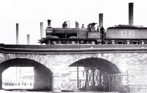 MR - 3141 - Johnson Class 1698 2F 0-6-0 - built 1885 by Derby Works as MR No.1709 - 1907 to MR No.3141 - 1923 to LMS - 1946 withdrawn - seen here at Rotherham in May 1926.