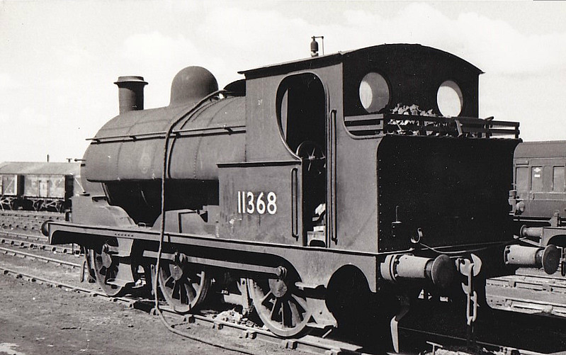 LYR - 11368 - Aspinall LYR Class 23 2F 0-6-0ST - built 1877 by Horwich Works as LYR Class 528 0-6-0 No.131 - 10/1893 rebuilt by Sharp Stewart & Co. as 0-6-0ST - 1923 to LMS No.11368 and to Crewe as Works shunter - BR No. not applied - 11/63 withdrawn.