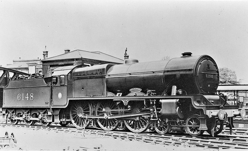 LMS - 6148 VELOCIPEDE - Fowler LMS 'Royal Scot' 4-6-0 - built 12/27 by North British Loco Co. - 12/27 renamed THE MANCHESTER REGIMENT - 06/48 to BR No.46148 - 11/64 withdrawn from 6J Holyhead - these old LNWR names were carried for only very short periods after completion.