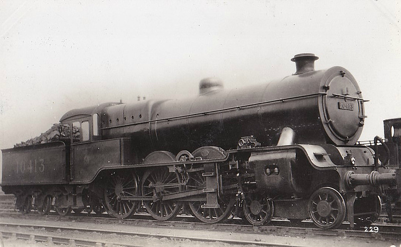 LYR - 10413 - Hughes LYR /LMS 'Dreadnought' Class 5P 4-6-0 - built 03/09 by Horwich Works as LYR No.1525 - 1921 rebuilt - 1923 to LMS No.10413 - 1934 withdrawn.
