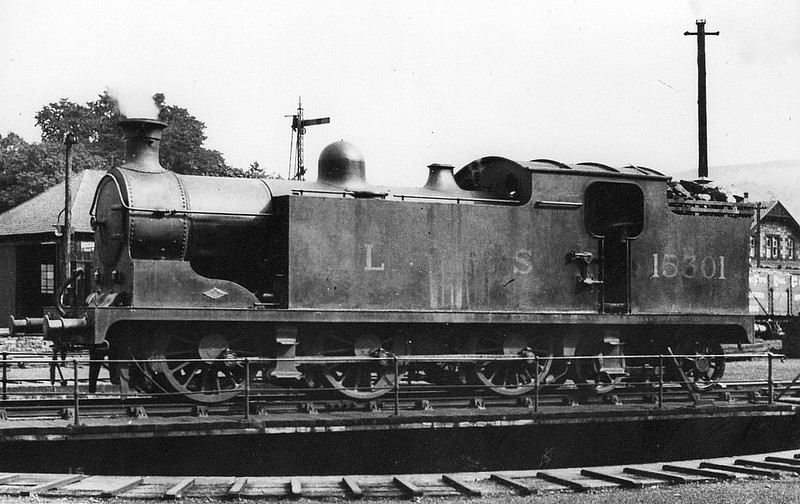 HR - 15301 - Drummond HR Class X 0-6-4T - built 1909 by North British Loco Co. as HR No.64 - 1909 to HR No.66, 1923 to LMS No.15301 - 10/34 withdrawn.