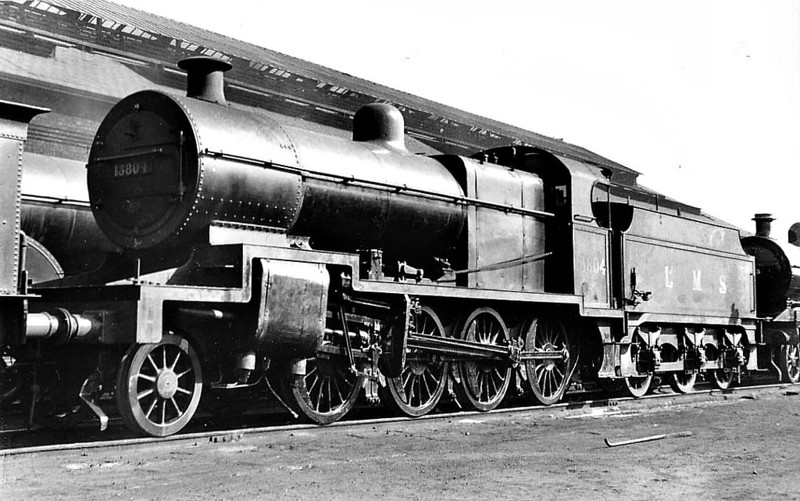 SDJR - 13804 - Fowler SDJR Class 7F 2-8-0 - built 04/14 by Derby Works as SDJR No.84 - 1930 to LMS No.9674, 1932 to LMS No.13804, 10/48 to 53804 - 02/62 withdrawn from 71G Bath Green Park - seen here at Derby, 03/38.