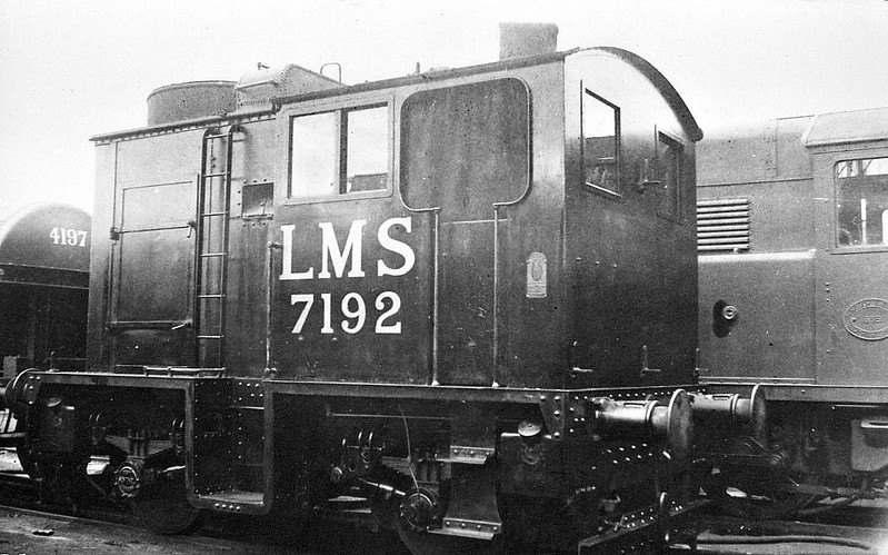 LMS - 7192 - Sentinel Geared 4-Cylinder Compound 0-4-0T - built 1934 by Sentinel Waggon Works - 1943 withdrawn and scrapped.