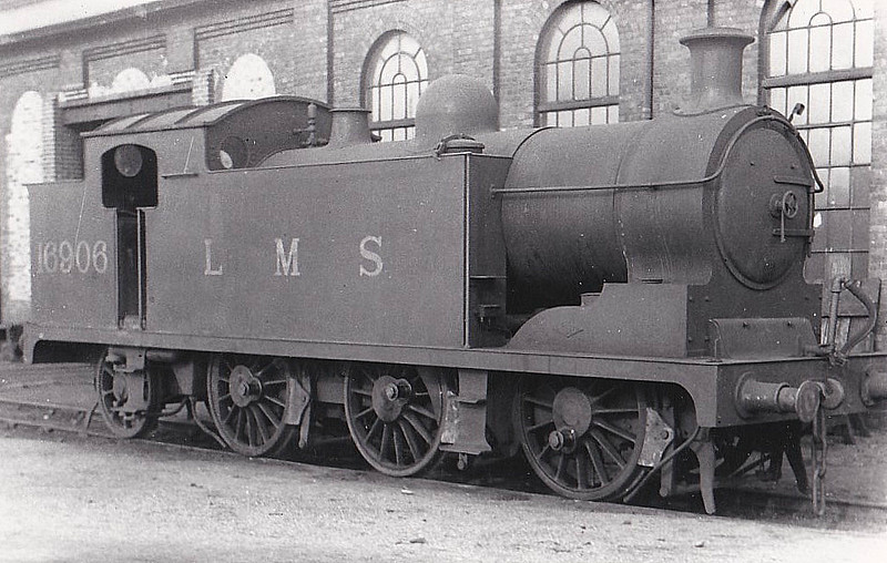 GSWR - 16906 - Whitelegg GSWR Class 1 0-6-2T - built 06/19 by North British Loco Co. as GSWR No.7 - 1923 to LMS No.16406, 1926 to LMS No.16906 - 06/38 withdrawn.