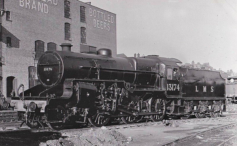 LMS - 13174 - Hughes LYR/LMS Class 5MT Crab 2-6-0 - built 05/30 by Crewe Works - 02/35 to LMS No.2874, 12/48 to BR No.42874 - 10/62 withdrawn from 9G Gorton.