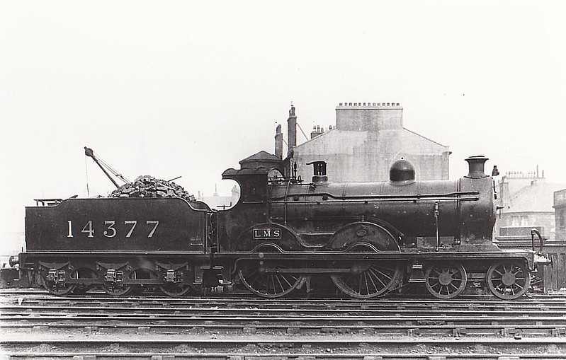 GSWR - 14377 - Manson GSWR Class 18 4-4-0 - built 11/09 by Kilmarnock Works as GSWR No.186 - 1919 to GSWR No.349, 1923 to LMS No.14377 - 10/32 withdrawn - seen here at Glasgow St Enoch.