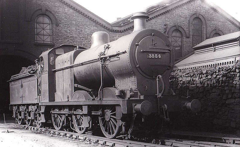 MR - 3854 - Fowler MR/LMS Class 4F 0-6-0 - built 02/18 by Derby Works - 01/49 to BR No.43854 - 06/64 withdrawn from 15D Coalville - seen here at Peterborough Spital Bridge, 08/36.