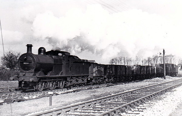 MR - 3258 - Johnson MR Class 1873 2F 0-6-0 - built 1890 by Neilson & Co., Works No.4203, as MR No.1931 - 1907 to MR No.3258 - 1923 to LMS - 12/48 to BR No.43258 - 07/59 withdrawn from 10D Sutton Oak - seen here passing Yate in 1935.