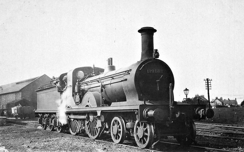 GSWR - 14132 - Smellie GSWR Class 119 4-4-0 - built 01/1884 by Kilmarnock Works as GSWR No.138 - 1919 to GSWR No.715 - 1923 to LMS No.14132 - 1931 withdrawn.