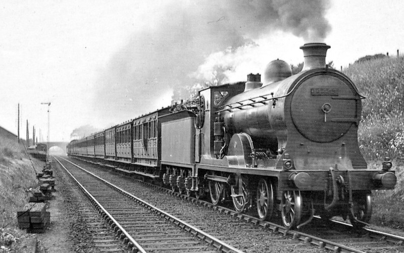 CR - 14453 - McIntosh CR Class 43 4-4-0 - built 1913 by St Rollox Works as CR No.46 - 1923 to LMS No.14453, 1948 to BR No.54453 - 1957 withdrawn.