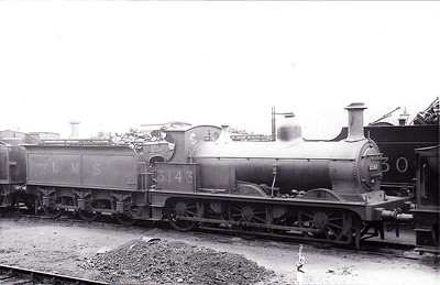 MR - 3143 - Johnson Class 1698 2F 0-6-0 - built 1885 by Derby Works as MR No.1711 - 1907 to MR No.3143 - 1923 to LMS - 1934 withdrawn - seen here at Grimethorpe in May 1932.