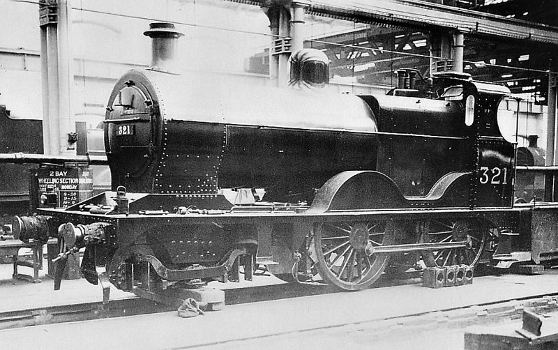 SDJR - 321 - Johnson MR Class 2P 4-4-0 - built 1908 by Derby Works as S&DJR No.78 - 1930 to LMS No.321 - withdrawn by 1938