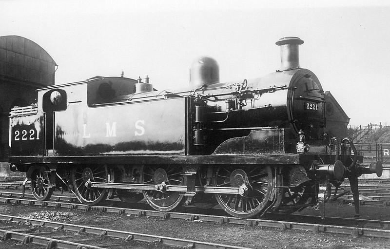 LTSR - 2221 - Whitelegg LTSR Class 69 0-6-2T - built 06/03 by North British Loco Works as LTSR No.70 BASILDON - 1912 to MR No.2181, 1923 to LMS No.2221, 1939 to LMS No.2181, 1947 to LMS No.1981, 02/49 to BR No.41981 - 06/62 withdrawn from 33B Tilbury