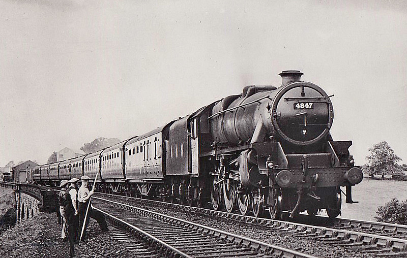 LMS - 4847 - Stanier LMS Class 5MT 4-6-0 - built 11/44 by Crewe Works - 06/49 to BR No.44847 - 11/66 withdrawn from 40E Colwick - seen here near Appleby.