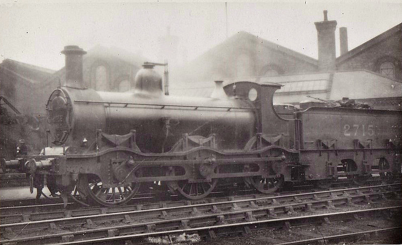 MR - 2715 - Kirtley MR Cass 2F 0-6-0 - built 1870 by Vulcan Foundry as MR No.331 - 1907 to MR No.2715 - 12/30 withdrawn.