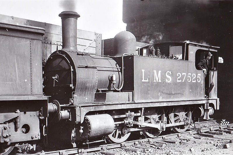 NLR - 27525 - Park NLR Class 75 0-6-0T - built 07/1891 by Bow Works as NLR No.62 - 1923 to LNWR No.2880, 06/26 to LMS No.7525, 10/34 to LMS No.27525 - 03/48 withdrawn from 6C Birkenhead.