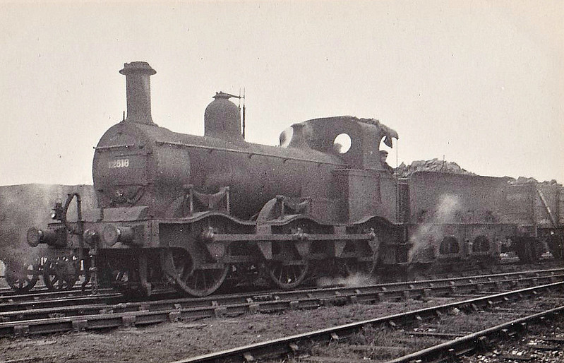MR - 22818 - Kirtley MR Class 1F 0-6-0 - built 1873 Vulcan Foundry as MR No.578 - 1907 to MR No.2818, 1932 to LMS No.22818 - 02/47 withdrawn from Bournville MPD.