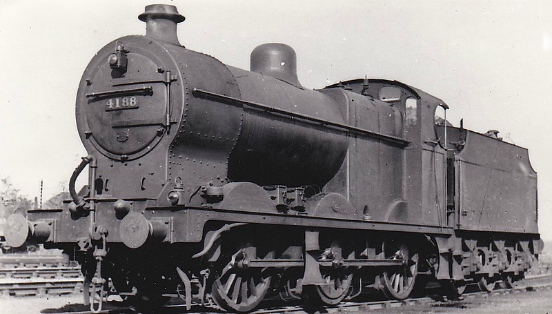 LMS - 4188 - Fowler LMS Class 4F 0-6-0 - built 04/25 by St Rollox Works - 06/49 to BR No.44188 - 11/65 withdrawn from 2F Bescot.