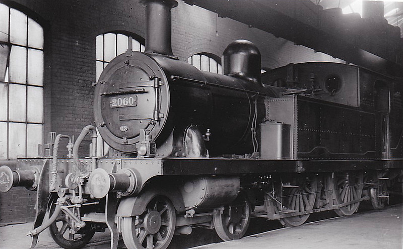 LTSR - 2060 - Whitelegg LTSR Class 1 4-4-2T - built 1885 by Sharp Stewart & Co. as LTSR No.30 FENCHURCH - 1912 to MR No.2139, 1930 to LMS No.2060 - 1934 withdrawn - seen here at Tilbury.
