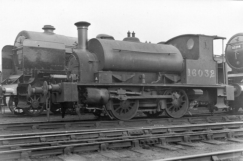 CR - 16032 - Drummond CR Class 611 'Pug' 0-4-0ST - built 07/00 by St Rollox Works as CR No.623 - 1923 to LMS No.16032, 07/49 to BR No.56032 - 10/60 withdrawn from Crewe Works as Works Pilot.