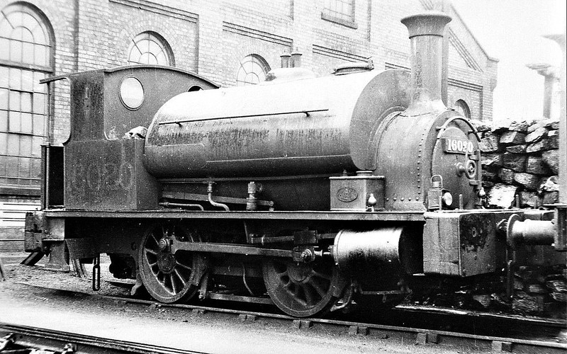 CR - 16020 - Drummond CR Class 264 'Pug' 0-4-0ST - built 02/1890 by St Rollox Works as CR No.510 - 1923 to LMS No.16020, 04/48 to BR No.56020 - 03/55 withdrawn from 21C Bromsgrove.