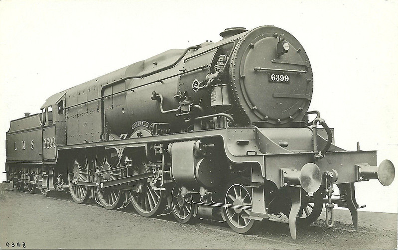 LMS - 6399 FURY - Fowler/Superheater Co. LMS Experimental High Pressure 4-6-0 - built 10/29 by North British Loco Co. as LMS No6399 - highly unsuccessful on test - 1935 rebuilt by Stanier as Royal Scot No.6170 ROYAL BRITISH LEGION - 04/48 to BR No.46170 - 12/62 withdrawn from 6G Llandudno Junction