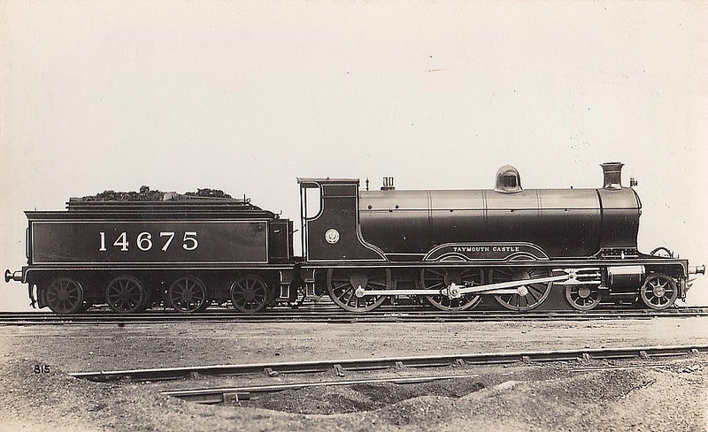 HR - 14675 TAYMOUTH CASTLE - Drummond HR Castle Class 4-6-0 - built 06/00 by Dubs & Co. as HR No.140 - 1923 to LMS No.14675 - 08/39 withdrawn