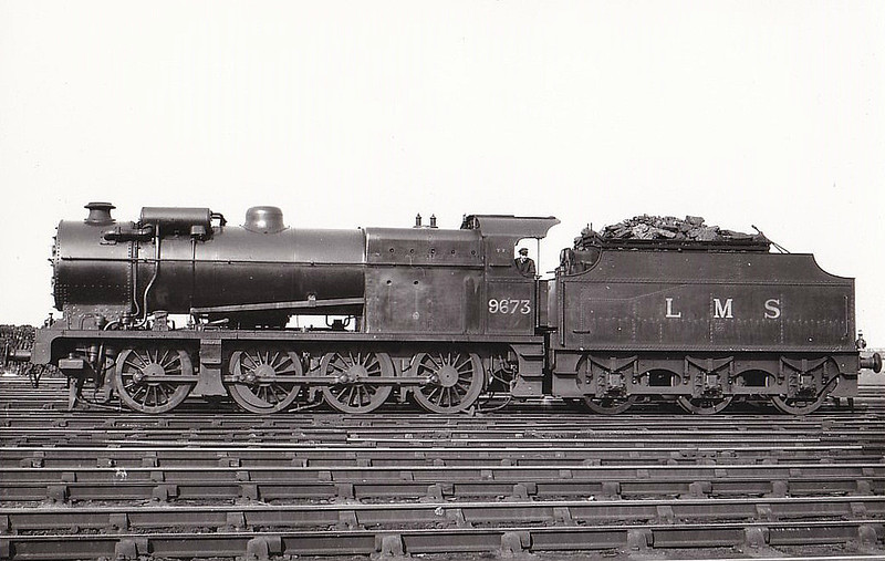 LMS - 9673 - Fowler LMS Class 7F 0-8-0 - built 06/32 by Crewe Works - 11/49 to BR No.49673 - 02/51 withdrawn from 25E Sowerby Bridge.