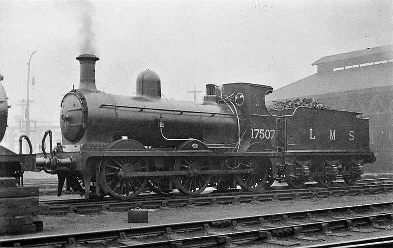 GSWR - 17507 - Manson GSWR Class 361 0-6-0 - built 07/10 by Kilmarnock Works as GSWR No.13 - 1919 to GSWR No.102, 1923 to LMS No.17507 - 9132 withdrawn.