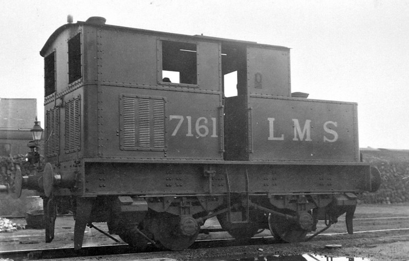 LMS - 7161 - Sentinel 2-Speed 0-4-0VT - built 06/30 by Sentinel Waggon Works - 1934 to LMS No.7181, 09/49 to BR No.47181 - 11/56 withdrawn from 84G Shrewsbury.