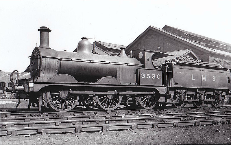 MR - 3530 - Johnson MR Class 1873 2F 0-6-0 - built 01/1897 by Neilson & Co. as MR No.2344 - 1907 to MR No.3530 - 12/39 withdrawn.