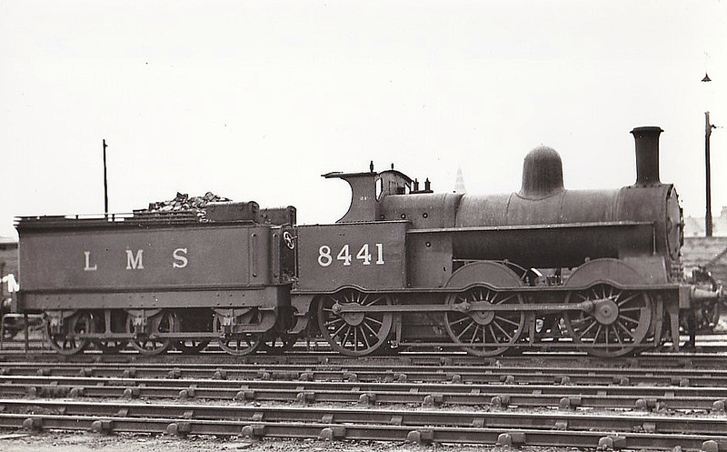 LNWR - 8441 - Webb LNWR Class 2F Cauliflower 0-6-0 - built 03/1897 by Crewe Works as LNWR No.348 - 12/26 to LMS No.8441, 10/42 to LMS No.28441 - 02/48 withdrawn - seen here at Willesden in 1937.