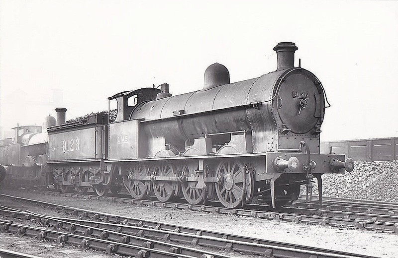 LNWR - 9126 - Whale LNWR Class G 7F 0-8-0 - built 08/10 by Crewe Wrks as LMWR No.1577 - 06/27 rebuilt to Class G1 and to LMS No.9126, 08/39 rebuilt to Class G2a, 11/48 to BR No.49126 - 09/62 withdrawn from 3A Bescot.