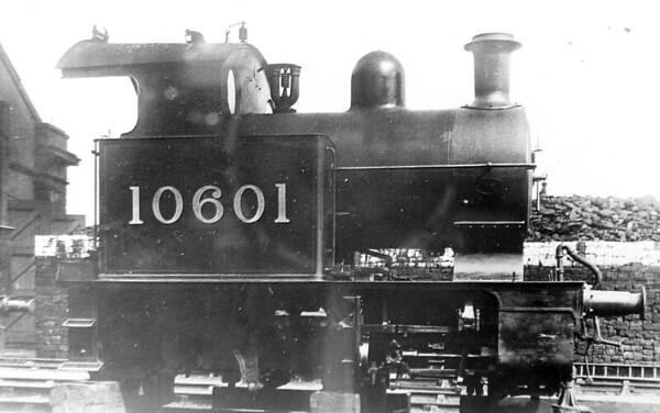LYR - 10601 - Hughes LYR 0-4-oT Railmotor - built 1906 by Horwich Works as LYR Railmotor No.4 - 1923 to LMS No.10601 - 02/34 withdrawn.