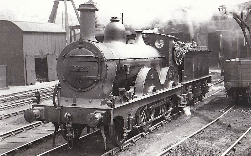 MR - 157 - Johnson MR Class 1282 2-4-0 - built 1876 by Dubs & Co. as MR No.1282 - 1907 to MR No.157, 197 to LMS No.20157 - 1929 withdawn - seen here at Bath, 05/29.